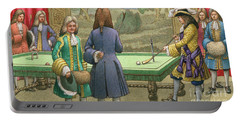 Billiards, As Played By Louis Xiv At Versailles Portable Battery Charger