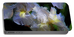 Billowing Irises Portable Battery Charger