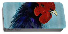 Portable Battery Charger featuring the painting Billy Boy The Rooster by Janice Rae Pariza