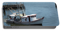 Bilouxi Shrimp Boat Portable Battery Charger by Cynthia Powell