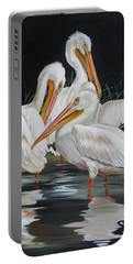 Portable Battery Charger featuring the painting Biloxi Bayou Lullaby by Phyllis Beiser