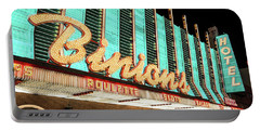 Portable Battery Charger featuring the photograph Binions Hotel And Casino by Aloha Art