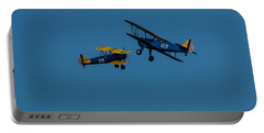 Biplanes Near Collision 5x7 Portable Battery Charger