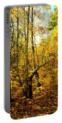 Birch Autumn Portable Battery Charger by Henryk Gorecki