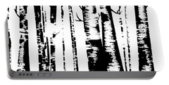Birch Forest Black Portable Battery Charger