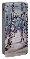 Birch Forest  Portable Battery Charger by Megan Walsh