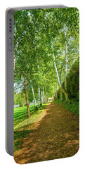 Portable Battery Charger featuring the photograph Birch Gauntlet by Greg Fortier