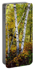 Birch In Gold Portable Battery Charger