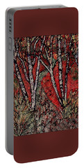 Birch Tree Mosaic Portable Battery Charger