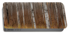 Birch Trees Abstract #2 Portable Battery Charger