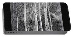 Portable Battery Charger featuring the photograph Birch Trees by Susan Kinney