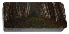 Birches At Blue Hour Portable Battery Charger