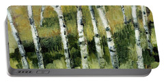 Birches On A Hill Portable Battery Charger