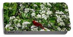Bird And Blossoms Portable Battery Charger