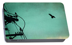 Bird City Revisited Portable Battery Charger by Trish Mistric