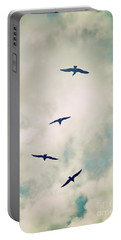 Portable Battery Charger featuring the photograph Bird Dance by Lyn Randle