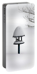 Bird Feeder In Snow Portable Battery Charger