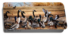 Bird Gang Wars Portable Battery Charger by Sumoflam Photography