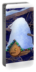 Bird House Christmas Portable Battery Charger