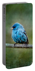 Bird In Blue Indigo Bunting Ginkelmier Inspired Portable Battery Charger