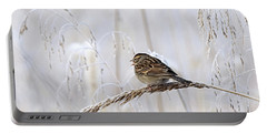 Bird In First Frost Portable Battery Charger