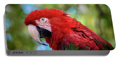 Portable Battery Charger featuring the photograph Bird In Red by Lisa L Silva