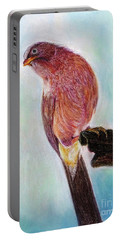 Portable Battery Charger featuring the painting Bird by Jasna Dragun