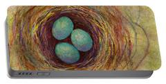 Bird Nest Portable Battery Charger by Hailey E Herrera