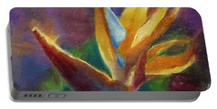 Portable Battery Charger featuring the painting Bird Of Paradise - Tropical Hawaiian Flowers by Karen Whitworth
