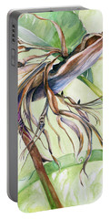 Bird Of Paradise, A Faded Beauty Portable Battery Charger by Nadine Dennis