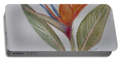 Portable Battery Charger featuring the painting Bird Of Paradise by Donna Walsh