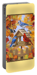 Bird Painting - Autumn Aquaintances Portable Battery Charger
