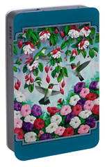 Bird Painting - Hummingbird Heaven Portable Battery Charger by Crista Forest