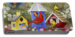 Bird Painting - Primary Colors Portable Battery Charger