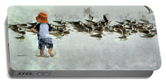 Portable Battery Charger featuring the photograph Bird Play by Claire Bull
