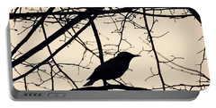 Bird Silhouette Portable Battery Charger by Sarah Loft