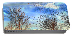 Bird Swarms Versus Hawks On The Prairie Portable Battery Charger