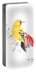 Bird In Yellow Portable Battery Charger