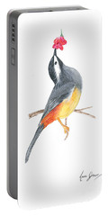 Minimal Bird And Flower Portable Battery Charger