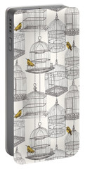 Birdcages Portable Battery Charger by Stephanie Davies