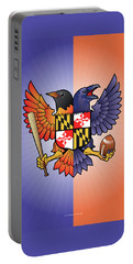 Birdland Baltimore Raven And Oriole Maryland Crest Portable Battery Charger