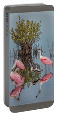 Birds And Mangrove Bush Portable Battery Charger