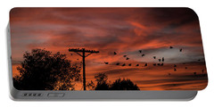 Birds And Sunset Portable Battery Charger