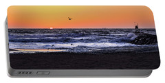 Portable Battery Charger featuring the photograph Birds At Sunrise by Nicole Lloyd