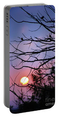 Birds At Sunset Portable Battery Charger by Craig Wood