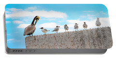 Birds Catching Up On News Portable Battery Charger