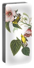 Portable Battery Charger featuring the photograph Birds Chat by Munir Alawi