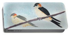 Birds Couple Portable Battery Charger