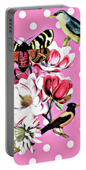 Birds, Flowers Butterflies And Polka Dots Portable Battery Charger