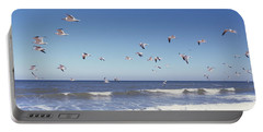 Birds Flying Over The Sea, Flagler Portable Battery Charger